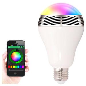 G24D 6W 230V Wireless Bluetooth BT Sprechanlage Lautsprecher Smart LED Lampe E27