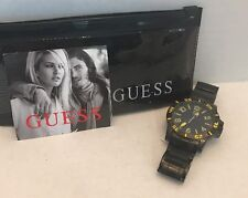 NWT Guess Men's Black Stainless Steel Watch G10830G1