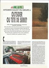 ESSAI ARTICLE MITSUBISHI GALANT VR4 GROUPE A 4 PAGES