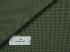 100% PURE CASHMERE FABRIC, GREEN/BLUISHGREY PUPPYTOOTH MADE IN ENGLAND 2.3METRES