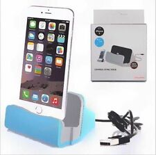 Blue Docking station Charger dock holder support for iPhone 6 devices 6plus