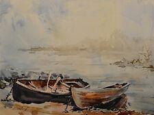 Contemporary Art/ Original Painting by American Artist Grace Eun Jung/ Seascape