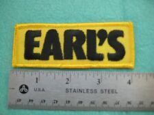 Earl's Racing Equipment Dealer Service Parts Uniform Patch