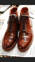 Men's ankle leather boots, Men brown Wing tip brogue boot Men ankle boots