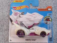 Hot Wheels 2017 #123/365 PURRFECT SPEED white Street Beasts