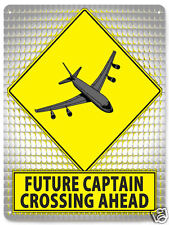 AIRPLANE PILOT METAL street sign airline CAPTAIN funny KIDS boys room wall 032
