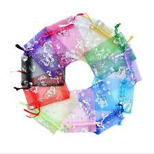 3x4 4x6 5x7 Butterfly Organza Gift Bags Jewelry Candy X-mas Pouch Wedding Favor