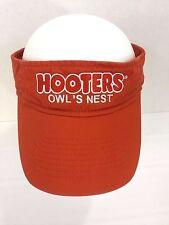 HOOTERS Owl's nest Orange Visor Hat Golf Adjustable Beach Sun