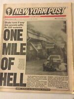 New York Post San Fransisco Quake Mile Of Hell October 19, 1989 041819nonrh