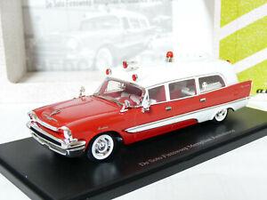 AutoCult 12010 1/43 1957 DeSoto Firesweep Memphian Ambulance Resin Model Car