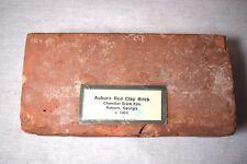 1904 Chandler Brick Kiln Auburn Red Clay Brick from Auburn, Ga