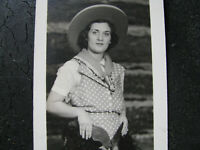 1920s MOVIE COWGIRL PHOTO - WOOLY CHAPS & COWBOY HAT Western Film Studio ? VTG