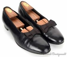 BROOKS BROTHERS Black Leather OPERA PUMP Loafter Dress Shoes - EU 43 C / US 10