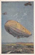 Deutsche Luftflotten Militärluftkreuzer Hansa  Postkarte 1. WK