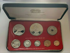 Papua New Guinea 1977 8 Coin Proof Set-1.67 ozt Silver w/COA Low Mtg 7,721 Sets