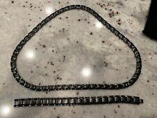 Elegant Smarter Lifestyle Titanium Magnetic Therapy Necklace & Bracelet MSRP$125