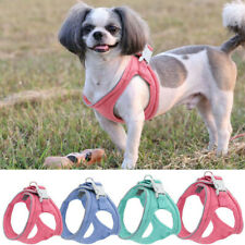 Reflective Dog Step-In Harness Small Medium Dog Cat Soft Suede Leather Walk Vest