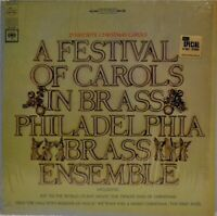 """A Festival of Carols in Brass"" Philly Brass Ensemble 1967 [Columbia MS703] LP"
