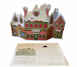 Vintage Tri Fold Hallmark Children's Christmas Advent Calendar with envelope