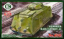 UM-MT Models 1/72 SOVIET WWII ARMORED RAIL CARRIER BDT-14