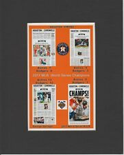 HOUSTON ASTROS 2017 WORLD SERIES CHAMPIONS MATTED PHOTO OF NEWSPAPER FRONT PAGES