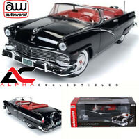 AUTOWORLD AMM1072 1:18 1956 FORD SUNLINER CONVERTIBLE BLACK