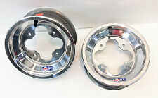 "DWT A5 Rolled Lip ATV Front Wheel PAIR 10"" 10x5 3+2 4/144 Suzuki LTR450 LTZ400"
