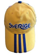BASEBALL HAT CAP Adidas  Sverige Sweden Euro 2012 Poland-Ukraine NEW WITH TAGS