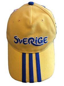 BASEBALL HAT CAP Adidas  Sverige Sweden Euro 2012 Poland-Ukraine NEW WITH TAGS