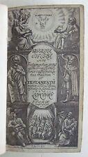 BIBLE BIBLIA SACRA in Latin 1656 bound w/ BOOK OF PSALMS in English 1673 antique