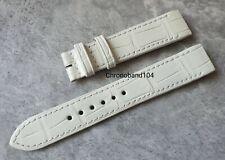 Genuine OEM Jaeger-LeCoultre LADY SQUDRA REVERSO 18/16mm Bianco Cinturino in Alligatore