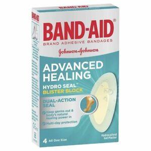Band-Aid Advanced Healing Blister Block Regular 4 Hydrocolloid Gel Plasters