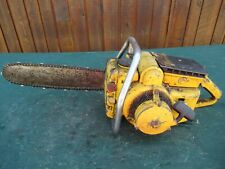 """Vintage McCULLOCH F30 Chainsaw Chain Saw with 15"""" Bar"""