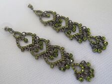 New Victorian Style Olive Tone Fashion Earrings Dropped Style.