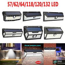 62/132 LEDs Waterproof Motion Sensor Solar Powered Wall Lamps Outdoor Yard Light