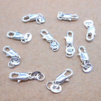 10PCS Jewelry Connector 925 Sterling silver Lobster Clasps 925 Stamped Tag Sell