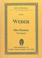 Taschenpartitur : WEBER ~ Abu Hassan Overture