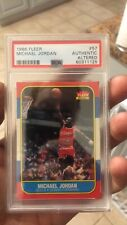 1986 fleer basketball michael jordan rookie rc 57 altered authentic psa bulls
