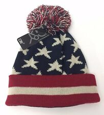 NEW Knit USA American Flag Stars Stripes Beanie Skull Ski Hat UNISEX Soft
