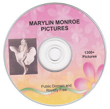 MARYLIN MONROE PICTURES! - 1300+ public domain images on CD