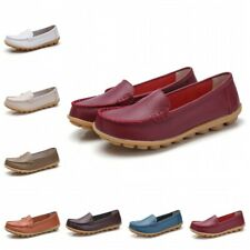 Summer Womens Slip On Driving Moccasin Casual Loafer Nurse Boat Shoes Hospital B