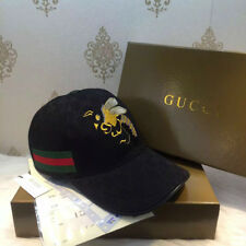 NWT Authentic Gucci Men's Women Black Hats Baseball Cap Bee Size Medium