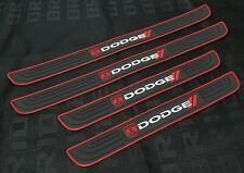 4PCS Black Rubber Car Door Scuff Sill Cover Panel Step Protector For Dodge