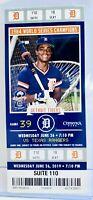2019 Detroit Tigers Ticket Stub - 1984 World Series Champions - Barbaro Garbey