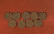 9 Different KGV One Cent Coins 1920-1921-1928-1929-1932-1933-1934-1935-1936 lot5