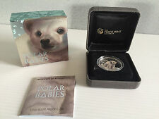 Mint 1/2 oz 99.99% Silver Proof 2017 Tuvalu Polar Babies Coloured 50 Cent Coin