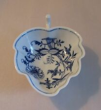 Antique Meissen blue onion pickle dish 19th