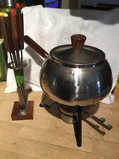 Vintage Stainless Steel Fondue Set