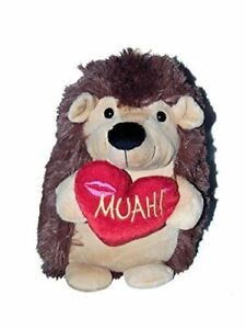 Plush Hedgehog with Heart Stuffed Animal Medium Size 15 inches tall NEW