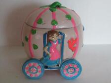 Vintage Earl Bernard Ny Cinderella Carriage Jewelry Box 1970's Musical Disney